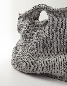Grey Knit Tote.