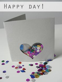 A sequin greeting card // DIY surprise!