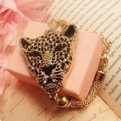 Leopard head Shinning Bracelet [AH0019] - $12.90 : - StyleSays