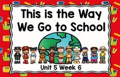 This is an ActivBoard activity to accompany Scott Foresman's Reading Street Unit 5, Week 6: This is the Way We Go to School. This is a five day lesson with multiple activities for each day that include letter recognition, rhyming words, blending sounds and words, high-frequency words, grammar activities, journal activities, games, comprehension activities, and more.