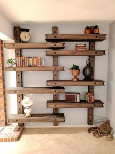 Adjustable shelves inspired by an oversized pegboard! {Reality Daydream}