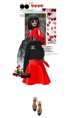 """""""[352] - Show Your Love"""" by ginevra-18 ❤ liked on Polyvore featuring T By Alexander Wang, Lanvin, Aquazzura, Giorgio Armani, Chanel, women's clothing, women, female, woman and misses"""