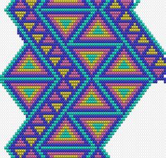 Crochet pattern for Wayuu Mochila. Crochet Shell Stitch, Crochet Chart, Crochet Stitches, Tapestry Crochet Patterns, Weaving Patterns, Stitch Patterns, Mochila Crochet, Tapestry Bag, Crochet Purses