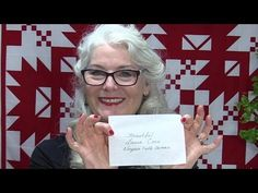 How to Make a Simple Quilt Label - YouTube