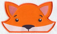 Peeking Fox (Applique) design (Y3987) from www.Emblibrary.com