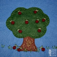 Apple Tree Applique Block | Wee Folk Art