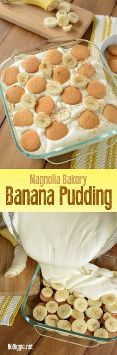 Check out Magnolia Bakery Banana Pudding - NoBiggie 13 Desserts, Brownie Desserts, Delicious Desserts, Yummy Food, Trifle Desserts, Filipino Desserts, Strawberry Desserts, Magnolia Bakery Banana Pudding, Yummy Treats