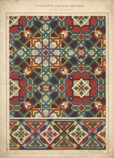 Cross Stitch Borders, Cross Stitching, Cross Stitch Patterns, Hippie Crochet, Natural Rug, Dollhouse Dolls, Repeating Patterns, Hama Beads, Handmade Rugs