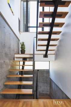 Modern White-Oak and Steel Staircase