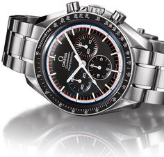 """The Speedmaster Moonwatch """"Apollo 15"""" 40th Anniversary Limited Edition a commemorative edition of the first watch to be worn on the moon. It sports the same manual winding OMEGA calibre 1861."""