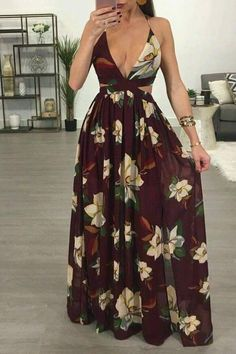 Latest Women Dresses Fashion Outfit Ideas For 2019 Skirt Outfits, Dress Skirt, Dress Up, Cute Outfits, Maxi Skirts, Backless Maxi Dresses, Floral Maxi Dress, Casual Dresses, Fashion Dresses