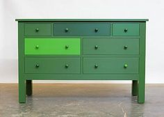 Roy McMakin - Matthew Marks Gallery Colour drawers variations of colour...
