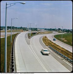 When work began on what would become Highway 401 in no-one imagined what a monster it would become. The Toronto portion of the road, built as. The Rouge, Toronto Ontario Canada, Canada Eh, Canadian History, Historical Pictures, Niagara Falls, Old Photos, 1960s, City