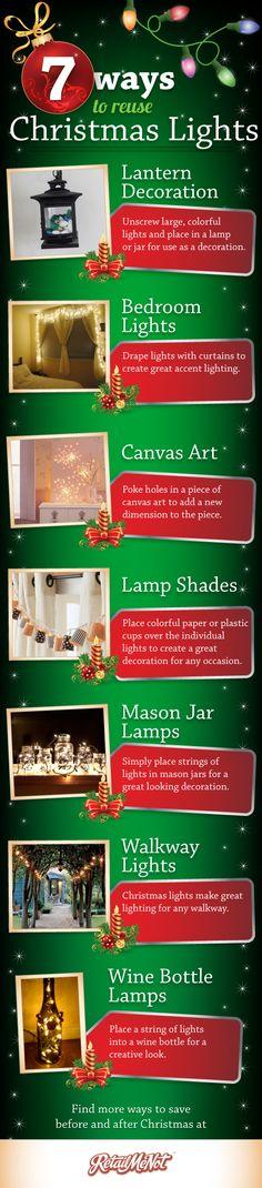 7 Creative Ways to Reuse Your Christmas Lights!