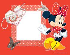 Marcos para fotos con minnie mouse-Imagenes y dibujos para imprimir