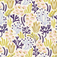 160900 Oceanfloor Quilter's Cotton from Underwater by Elizabeth Olwen for Cloud9 Fabrics