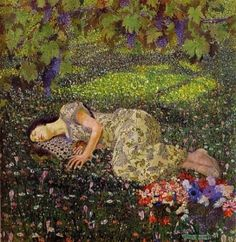 "Felice Casorati ""Dreaming Of Pomegranates"" 1912 by jd1"