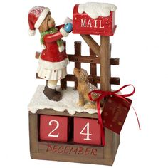 Christmas Toys 2017 Poststation mit Datum 12,5x8x22,5cm - Villeroy & Boch