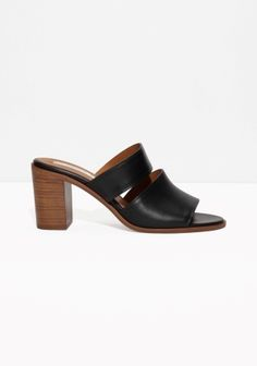 With a slender fit, these leather sandalettes feature double straps, and a cushioned leather insole for a comfy walk.