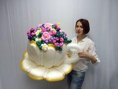 (42) Одноклассники Balloon Cars, Balloon Modelling, Balloons And More, Balloon Flowers, Ideas Para Fiestas, Cute Pins, Sugar Flowers, Flower Basket, Balloon Decorations