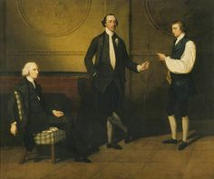 The Reverend Charles Everard Booth (c.1726–1792), Captain Griffith Booth, RN, and an Unidentified Man, Playing Billiards by John Hamilton Mortimer, c.1775-79.