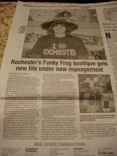 Oakland Press Funky Frog PR 12/8/2012