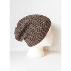 Taupe Brown Slouchy Skullcap Beanie Hat, ready to ship. ($45) ❤ liked on Polyvore featuring accessories, hats, beanie hats, slouchy beanie, brown beanie hat, slouchy beanie hat and saggy beanie