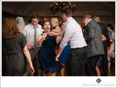 Reception dancing during at River Creek Country Club wedding in Leesburg, Virginia