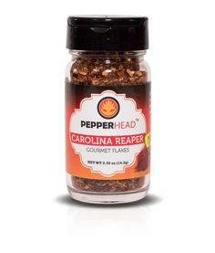 Buy pure Carolina Reaper Flakes without the hassle of growing your own plants. 0.5 oz pure Reaper Flakes packaged in a premium glass jar with sifter lid
