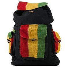 Three Pocket Hemp Backpack  Black RGY OSFM *** Find out more about the great product at the image link.