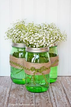 The hue makes them festive enough for St. Patrick's Day, but these jars are so pretty you'll want to leave them out all spring! Get the tutorial at Cottage at the Crossroads.