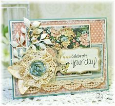 Celebrate Your Day Card by Kathy Montgomery @2peasinabucket