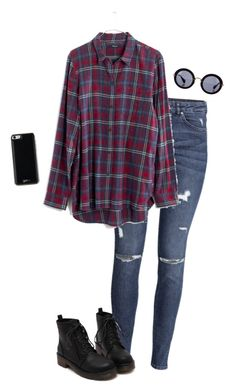 """Fall Weather In The Summer Sun"" by hanakdudley ❤ liked on Polyvore featuring H&M, Madewell, Miu Miu and Gooey"