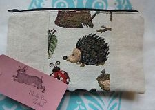 Handmade Makeup Bag Hedgehog Ladybird Cosmetic Pencil Case Safari Animal