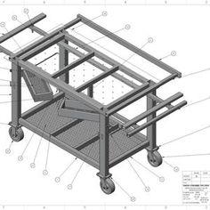 Welding Bench, Welding Table Diy, Welding Tools, Metal Welding, Welding Projects, Diy Table, Welding Cart Plans, Welding Ideas, Welding Art