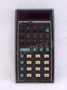 FOR PARTS OR REPAIR: Hewlett Packard HP-35 Handheld Scientific Calculator Vtg #HP