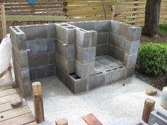 cinderblock fireplace?