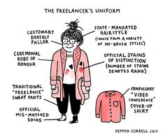 gemmacorrell:  Last week's chart for ilovecharts - The Freelancer's Uniform. See this week's chart at Medium.  Work from home? This is relevant! ;)