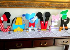 mickey printables for cardboard name | ... spray paint, various scrapbook paper & embellishments & printables
