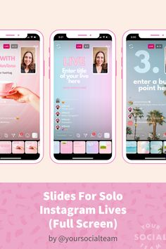 These Canva Templates perfectly sized for solo Instagram lives (full screen) will give you the confidence you need to show your face on Instagram and ace your lives, every time. Selling On Instagram, Slide Background, Instagram Life, Any Images, Camera Roll, Confidence, Templates, Live, Canvas
