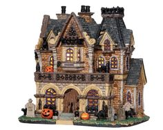 Website for Lemax Spooky Town and Christmas Village Collections on sale.