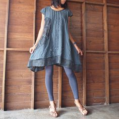 Artistic Collection...Sun and rain pleated dress M, L(1404) by cocoricooo on Etsy https://www.etsy.com/listing/127544120/artistic-collectionsun-and-rain-pleated