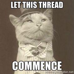 Aristocat meme - Let This Thread Commence