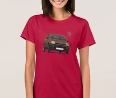 Renault 5 (1971 - 1985) t-shirt.  #renault #renault5 #renaultr5 #automobile #france #french #shirt #classiccars #illustration #carillustration #70s #80s #car #brown