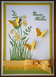 I have had a few requests for Easter cards from my ladies, Chris (sis-in-law) . - I have had a few requests for Easter cards from my ladies, Chris (sis-in-law) had a great design - Making Greeting Cards, Greeting Cards Handmade, Easter Greeting Cards, Holiday Cards, Christmas Cards, Handmade Birthday Cards, Handmade Easter Cards, Diy Easter Cards, Butterfly Cards Handmade