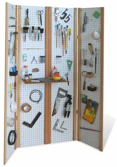 Beautiful Folding Portable Pegboard Workshop