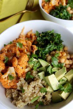 Spicy Cauliflower Power Bowl // pumpkin & peanut butter