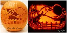 Frightful Carriage Ride Pumpkin Carving tips