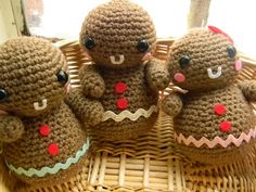 Darling Gingerbread! #christmas #crochet #amigurumi