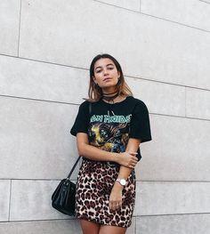 SHOP | @bentheliem | Jacquard A-Line Leopard Print Mini Skirt